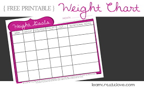 printable weight chart