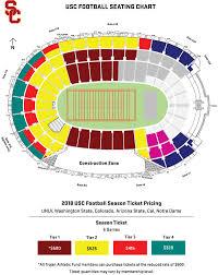 Usc Coliseum Seating Chart Interpretive Usc Football Seating Chart Usc Football Stadium
