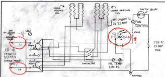 garage heater wiring plan skye cooley fine woodworking Single Pole Thermostat Wiring Diagram question 1 line power comes in at left into terminals 1 and 5 but i have two dangling wires (for a single pole thermostat that has been removed) which i 240v single pole thermostat wiring diagram