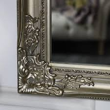 large ornate champagne gold wall mirror 82cm x 62cm
