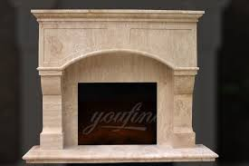 high quality victorian beige marble fireplace mantel for