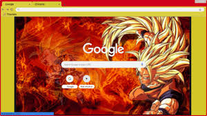 Google Wallpaper Theme Super Saiyan 3 Goku Google Wallpaper Chrome Theme Themebeta