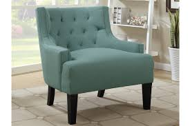 Blue Pattern Accent Chair