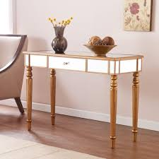 mirror console table. Southern Enterprises Fred Champagne Gold Mirrored Console Table Mirror