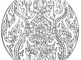 Elephant Mandala Coloring Pages Easy