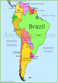 South America Map Annamap Com