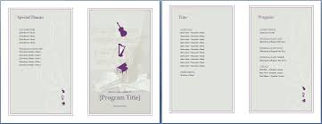 how to make music program the music event program invitation will make your planning easy