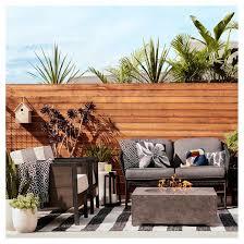 Outdoor Rug Worn Stripe Black & White Threshold™ Tar