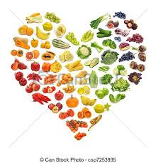 fruit and vegetables heart. Wonderful Heart Heart Of Fruits And Vegetables  Csp7253935 In Fruit And Vegetables D