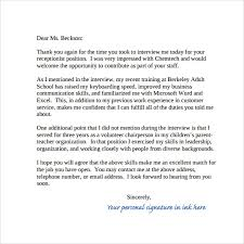 Nursing Thank You Letter After Interview Letter Of Recommendation