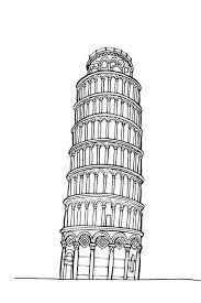 Disegno Da Colorare Torre Di Pisa Nostrofiglioit