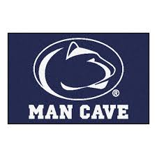 fanmats penn state blue man cave 2 ft x 3 ft area rug