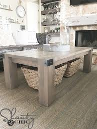 modern farmhouse table. Modern Farmhouse Coffee Table And How-To Video - Shanty 2 Chicwww.luxuryroomdecor.