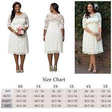 Kiyonna Dress Size Chart Details About Kiyonna Plus Size 0 Wedding Dress Aurora Style White Lace Illusion Neckline Usa