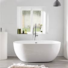 freestanding bath tub. soakology azure 1500mm double ended freestanding bath tub