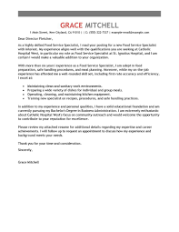 cover letter for food service best food service specialist cover letter examples livecareer