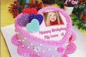 Birthday Cake Edit Name And Photo Colorfulbirthdaycakeml