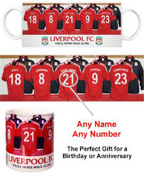 liverpool fc personalised mug football gifts