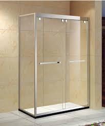 rectangle framed glass sliding shower doors