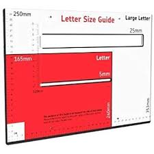 Royal Postage Chart Royal Mail Size Guide Large Letter Template Brand New Free Shipping