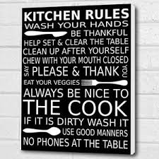image is loading kitchen rules picture wall plaque wall art black  on wall art kitchen rules with kitchen rules picture wall plaque wall art black canvas poster a3