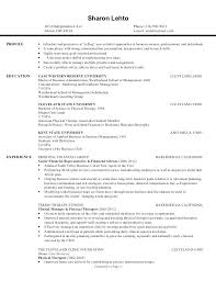 Occupational Therapy Resume Examples New Occupational Therapy Resume