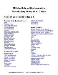 middle mathematics voary