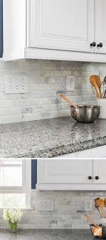 Kitchen Backsplash Designs Home Depot Create An Elegant Statement With A White Brick Wall