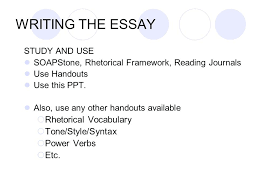 Soapstone Examples Prose Analysis Essay For The Language And