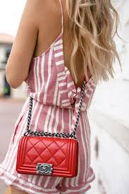 red chanel bags. bag tumblr red hair chanel boy designer quilted romper stripes chain bags