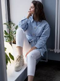 <b>Джинсовая куртка</b>-рубашка цвет: голубой, артикул: 0804020802 ...