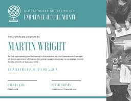 Employee Of The Month Free Online Free Employee Of The Month Certificate Magdalene Project Org