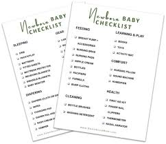 Baby Checklist Necessities For A Newborn Free Printable Damn