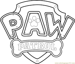 Small Picture Paw Patrol Logo Coloring Page Free PAW Patrol Coloring Pages