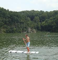 stand up paddleboardsup on lake