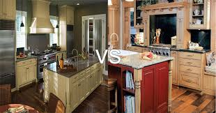 painted vs stained cabinets which