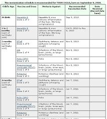 Blank Immunization Chart 30 Free Immunization Vaccination Schedule Charts Word Pdf