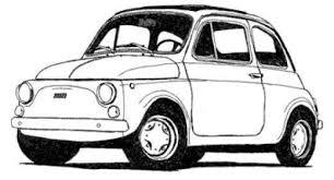 Ingekleurde Kleurplaat Fiat 500