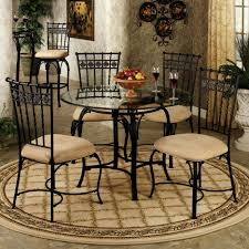 dining room sets from iron gorgeous small dining room design with round glass table top