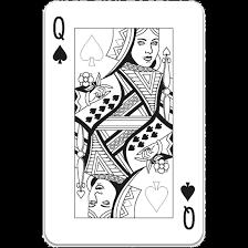Speelkaart Kleurplaten Queen