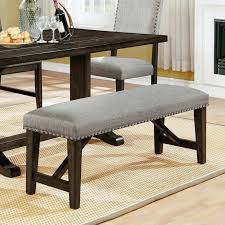 Curved dining bench Gray Dining Benches Upholstered Crown Mark Upholstered Dining Bench With Trim Curved Dining Bench Upholstered Uk Cheaptomsshoessaleinfo Dining Benches Upholstered Crown Mark Upholstered Dining Bench With