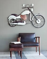 bike wall decor white copper