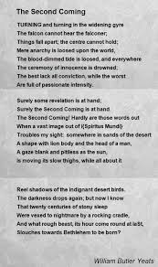 the second coming poem by william butler yeats poem hunter