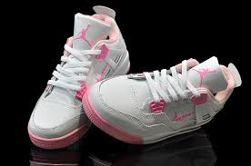 air jordan shoes for girls grey. nike air jordan 4 shoes kid\\\u0027s grade aaa white pink for girls grey