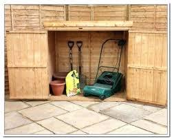 garden storage box lawn mower shed ideas lawn mower