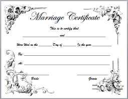 Free Marriage Certificates Templates Filename Reinadela Selva