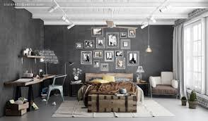 Awesome Industrial Bedroom Design 3
