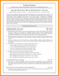 Professional Football Player Resume Bio Letter Format