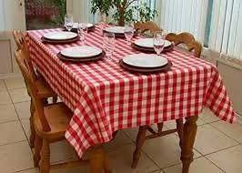 Country Style New Table Cloth RED GINGHAM Tablecloth Assorted Tablecloths Country Style