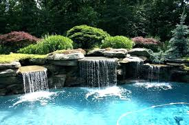 backyard pool with slides. Pools With Waterfalls Pool Waterfall Slides For  Plant Ideas Backyard .
